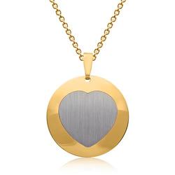 Vergoldete Silberkette mit Anhänger