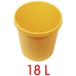 Papierkorb 18 L gelb, helit, 31x32x31 cm
