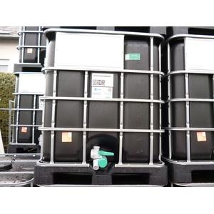 Hofer24 1000 Liter IBC Container Regentonne Wasserfass Tank Schwarz NEU Lebensmittelecht