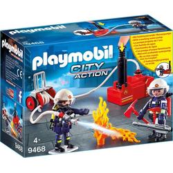 Playmobil® Spiel, PLAYMOBIL®l Feuerwehrmänner mit Löschpumpe