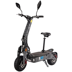 eFlux E-Bike S20 Elektroroller, 600 W, E-Scooter mit Straßenzulassung grau