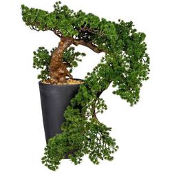 Kunstbonsai Bonsai Lärche Han-Kengai Bonsai, Creativ green, Höhe 70 cm, im Magnesiatopf