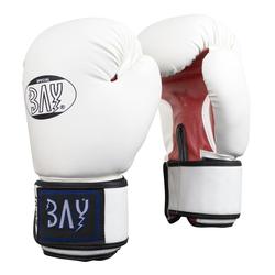 BAY-Sports Boxhandschuhe Future Box-Handschuhe weiß/rot Boxen Kickboxen 8 Unzen