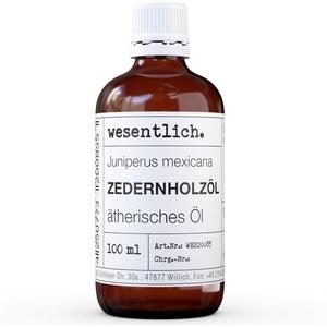 Zedernholzöl - reines ätherisches Öl von wesentlich. - 100% naturrein aus der Glasflasche (100ml)