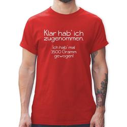 Shirtracer T-Shirt Klar hab' ich zugenommen - Herren Premium T-Shirt L