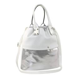 Tasche im Metallic-Look weiß