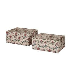 Basispreis* Aufbewahrungsboxen, 2er-Set ¦ rosa/pink ¦ Papier ¦ Maße (cm): B: 30 H: 27,5