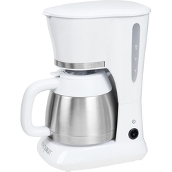 Exquisit KA 6501 we Kaffeemaschinen - Edelstahl / Weiß