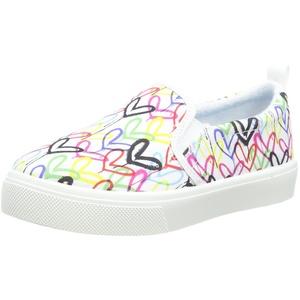 Skechers Mädchen Poppy DRIPPIN Love Sneaker, weiß, 34 EU