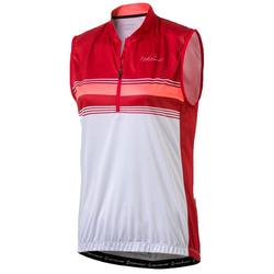 NAKAMURA Trikot NAKAMURA Davagna Trikot sommerliches Damen Rad-Trikot Half-Zip Shirt Rot/Weiß