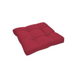 Beautissu Sitzkissen Xluna, Loungekissen Sitz 50x50x10cm rot 50 cm
