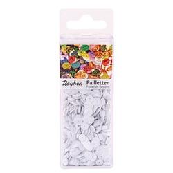 Rayher Streu-Pailletten glatt 6 mm weiß 4.000 St.