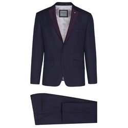 Lavard Pflaumenfarbener Anzug für den Bräutigam 34916  26