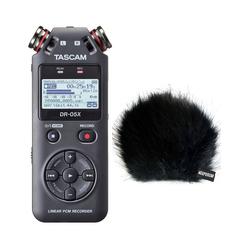Tascam Tascam DR-05X Audio-Recorder + Fell-Windschutz Digitales Aufnahmegerät