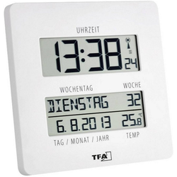 TFA Dostmann Wanduhr Funk-Uhr Time Line