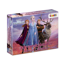 CRAZE Spiel, Adventskalender Frozen II 41 x 32,5 x 6,2cm
