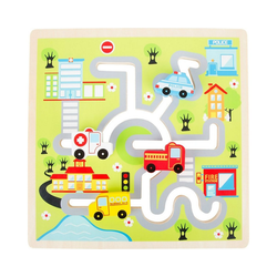 Small Foot Motorikwürfel Schiebe-Puzzle City bunt