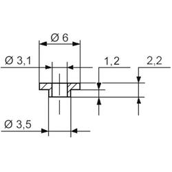 TRU Components TC-V5359-203 Isolierscheibe Außen-Durchmesser: 6 mm, 3.5mm Innen-Durchmesser: 3.1mm
