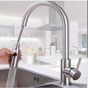 Wasserhahn Küche ausziehbar Catalpa Blume 360° Küchenarmatur mit Dual-Spülbrause Edelstahl Einhebel-Spültischarmatur Küche Spültischarmatur