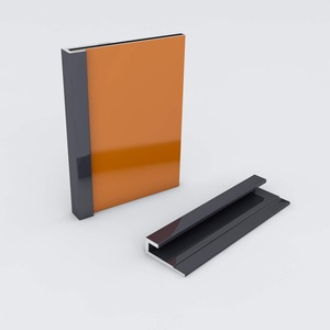 Duschrückwand-Profilsystem Abschlussprofil Aluprofil Aluminiumprofil für 3mm Duschrückwand Küchenspiegel 300cm anthrazit
