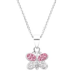 Firetti Kette mit Anhänger Schmetterling, mit Kristallen