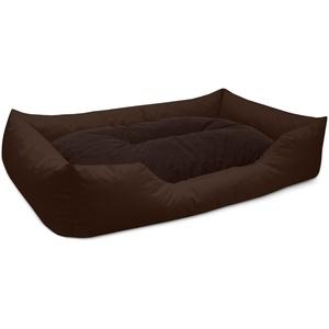 BedDog® Hundebett MIMI, Hundesofa aus Cordura, Microfaser-Velours,Hundekissen... XXL (ca. 120x85cm), CHOCOLATE (braun)