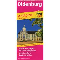 Oldenburg. Stadtplan 1:14 000