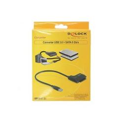 Delock Converter USB 3.0 to SATA Massenspeicher Controller SATA-600 USB 1.x; USB 2.0; USB 3.0 - 22-polig - SATA (61882)