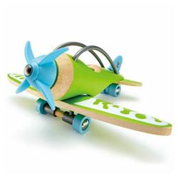 """Hape Spielzeug-Flugzeug Hape Spielzeug Flugzeug """"E-Plane"""" aus Bambus grün"""