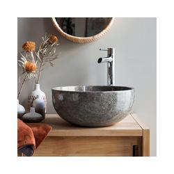 Tikamoon Waschbecken Waschbecken aus Marmor Mia grey light