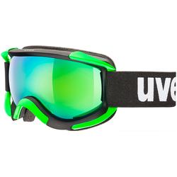 Uvex Sioux Skibrillen, zwart-groen, Eén maat