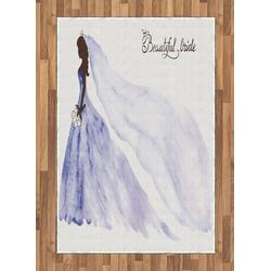 Teppich Flachgewebe Deko-Teppiche für das Wohn-,Schlaf-, und Essenszimmer, Abakuhaus, rechteckig, Hochzeit Abstrakt Hochzeit 120 cm x 180 cm