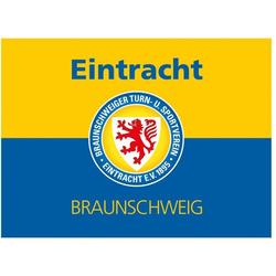 Wall-Art Wandtattoo Eintracht Braunschweig Banner (1 Stück) 50 cm x 37 cm x 0,1 cm
