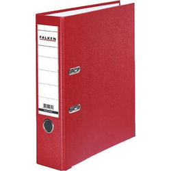 Falken Ordner PP-Color DIN A4 Rückenbreite: 80mm Rot 2 Bügel 9984071