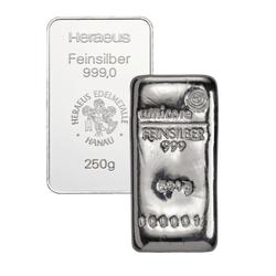 250 g Silberbarren