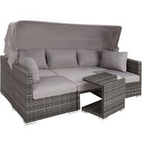 Tectake San Marino Polyrattan Lounge-Set grau