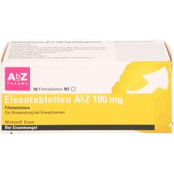 EISENTABLETTEN AbZ 100 mg Filmtabletten 50 St.