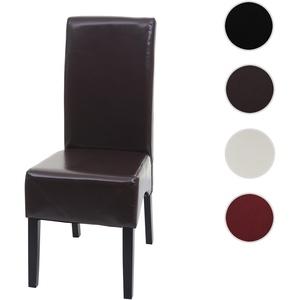 Esszimmerstuhl Latina, Küchenstuhl Stuhl, Leder ~ braun, dunkle Beine
