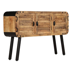 vidaXL Sideboard vidaXL Sideboard Mangoholz Massiv 120 x 30 x 76 cm