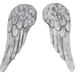 Stone and Style Engelfigur kleine Engel Flügel aus massiven Steinguss Steinfigur frostfest