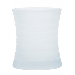 Kerzenglas für Refill Kerzen / Teelichteinsatz, Milchig, Ø 85 mm/H 100 mm, 1 Stück