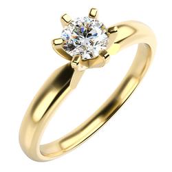 Solitär-Verlobungsring mit Diamant Mala
