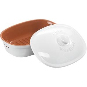 Römertopf Brot-Frische-Topf oval weiß medium 2,0 L
