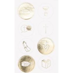 Rico-Design Verlag Sticker Christliche Feste, mit Goldfolie, 32 Stück