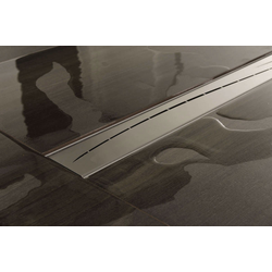 CLP Duschrinne Marisol, mit Siphon und Edelstahlabdeckung 0 cm x 500 cm x 110 cm