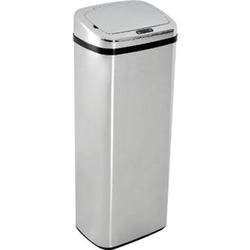 HOMCOM Mülleimer mit Sensor silber 33 x 25 x 84 cm (LxBxH)   Auomatik Abfalleimer Kücheneimer Müll Abfall