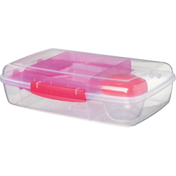 sistema Brotschale LUNCH Brotdose Bento Box, inkl. Joghurt-Dose, pink
