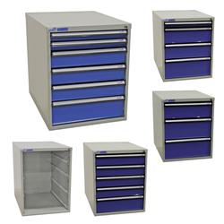 ADB Werkstatt Schubladenschrank mit 3 - 6 Schubladen Höhe 550 mm, Anzahl Schubladen: Schubladenschrank leer