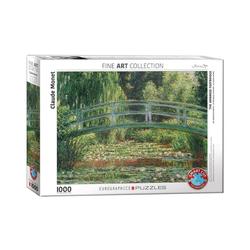 empireposter Puzzle Claude Monet - Japanische Brücke im Garten von Giverny - 1000 Teile Puzzle im Format 68x48 cm, 1000 Puzzleteile