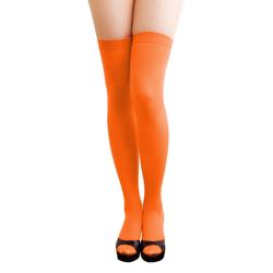 Overknee Strümpfe Sexy Strumpfhose halterlos Karneval Party - orange